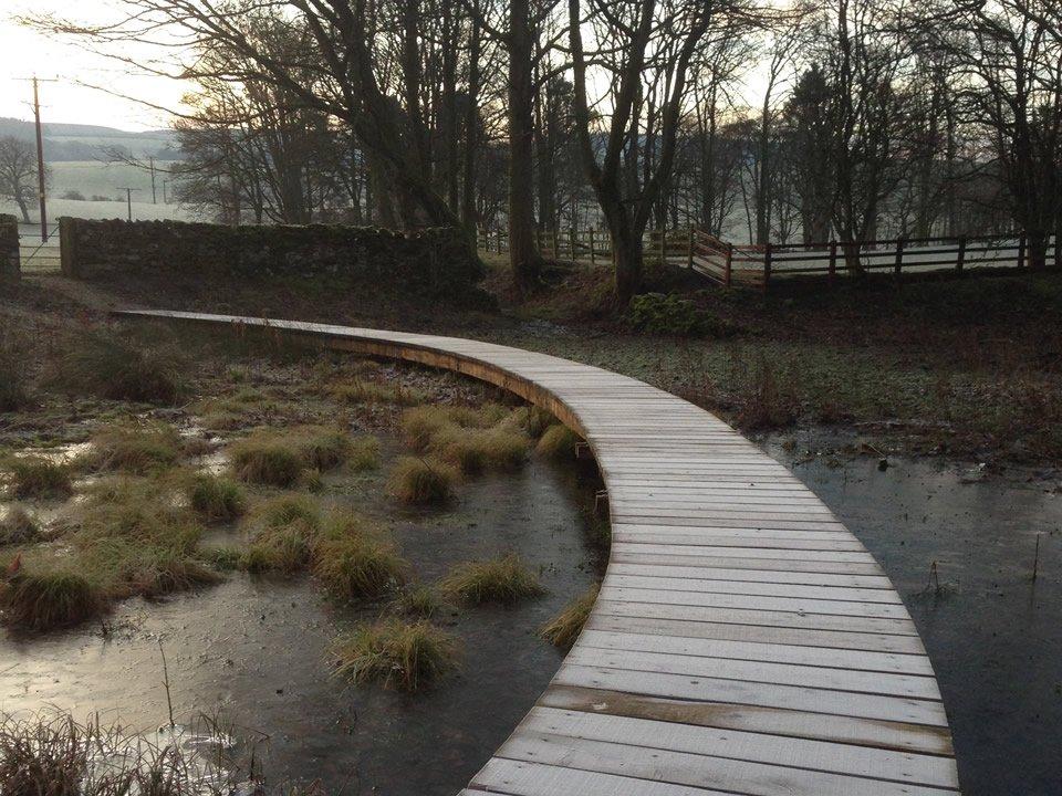 path over a lake